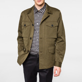 Paul Smith Men's Khaki Cotton and Linen-Blend Field Jacket