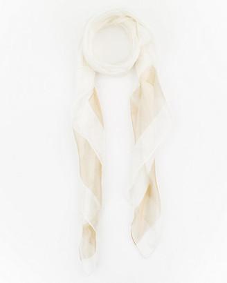 Le Château Stripe Silk Scarf