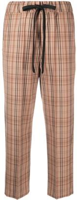 Alysi Check Print Trousers