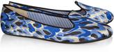 Shanghai Sheila leopard-print satin slippers