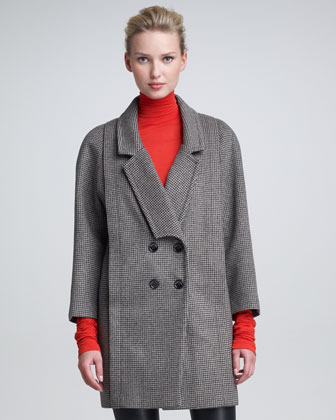 Peter Som Double-Breasted Houndstooth Coat