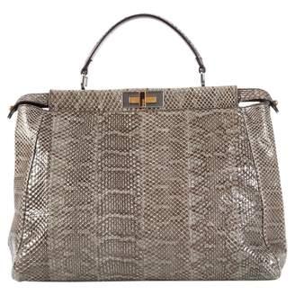 Fendi Peekaboo Grey Python Handbags