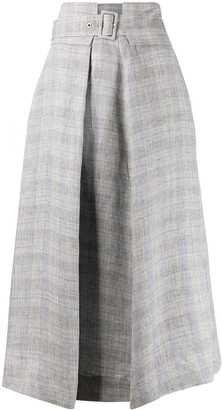 Fabiana Filippi High-Waisted Linen Skirt