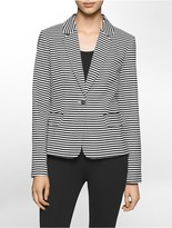 Calvin Klein Lightweight Striped Suit Jacket