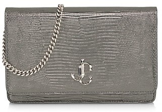 Jimmy Choo Palace Snakeskin-Embossed Leather Clutch