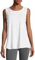 Current/Elliott The Cross-Back Muscle Tee, White