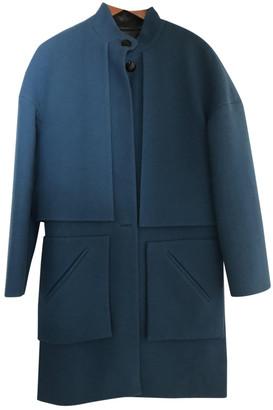 Yves Salomon Blue Wool Coats