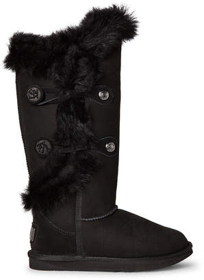 Australia Luxe Collective Black Noric Tuscany Tall Shearling-Lined Suede Boots