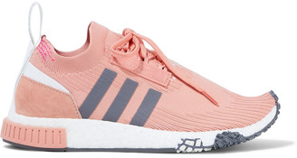 adidas Nmd_racer Suede-trimmed Stretch-knit Sneakers