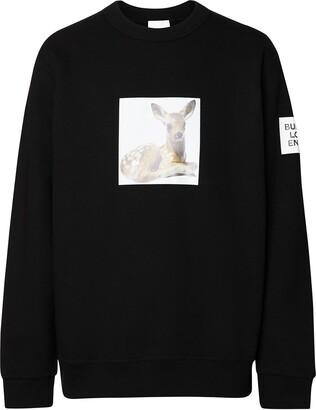 Burberry Deer Print Sweatshirt