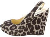 Stella McCartney Leopard Platform Wedges