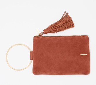 THACKER Leather Clutch with Ring Handle - Nolita