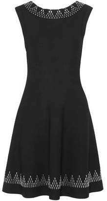 Alaia Studded Stretch-knit Mini Dress