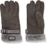Australia Luxe Collective Shearling-trimmed suede gloves