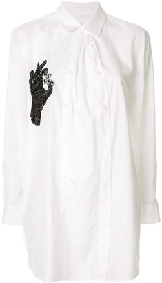 Y's hand beaded embroidery shirt