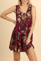Umgee USA Berry Floral Dress
