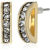 Cole Haan Rounded Pave Bar Gold Drop Earrings