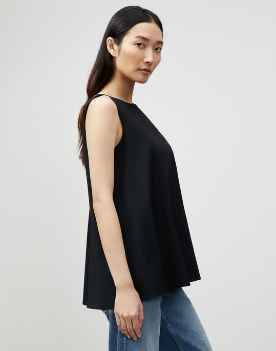 Thumbnail for your product : Lafayette 148 New York Petite Isa Convertible Blouse In Italian Stretch Cotton