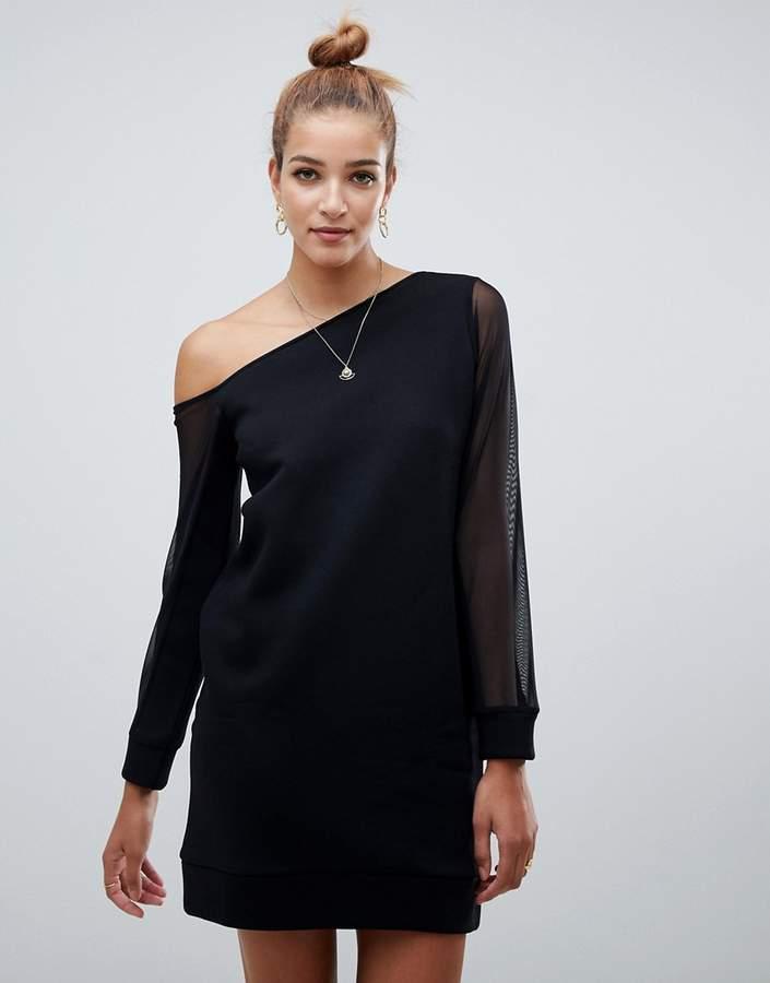 e4639559f6 Asos Black Off The Shoulder Dresses - ShopStyle