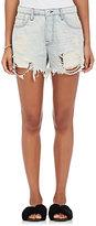 NSF Women's Lolita Striped Distressed Denim Shorts