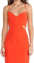 Naven Lux V Neck Cut Out Dress
