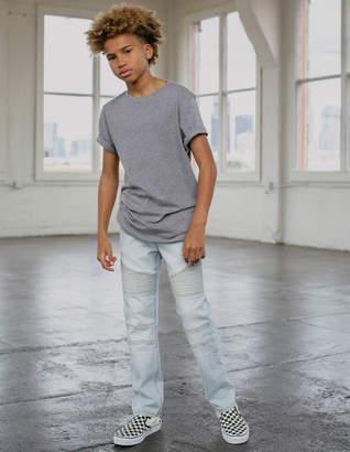 Rsq London Moto Light Wash Boys Skinny Jeans