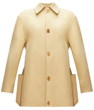 Bottega Veneta Raw-edged Cotton-gabardine Jacket - Light Yellow