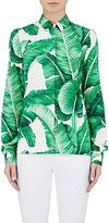 Dolce & Gabbana Women's Foliage-Print Blouse-WHITE, GREEN, NO COLOR