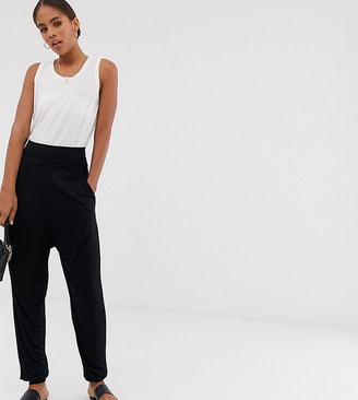 Asos Tall DESIGN Tall ultimate jersey harem trousers-Black