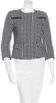 Akris Punto Wool-Blend Collarless Jacket