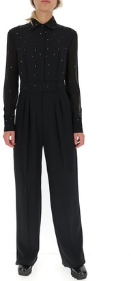 Max Mara Studded Shirt Jumpsuit
