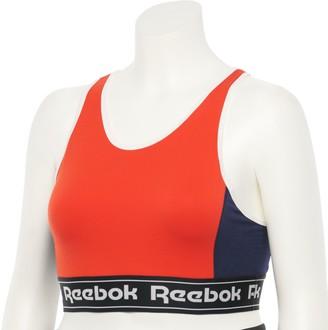 Reebok Plus Size Training Essentials Linear Logo Sports Bralette