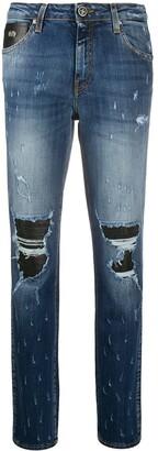 John Richmond distressed straight-leg jeans