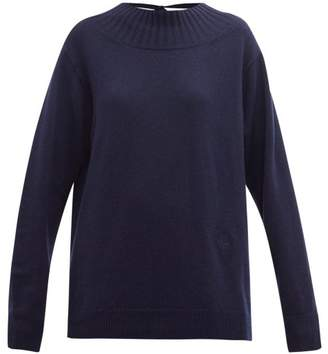Chloé Iconic Open-back Cashmere Sweater - Womens - Navy