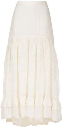 Mes Demoiselles Layered Lace Ruffle Skirt
