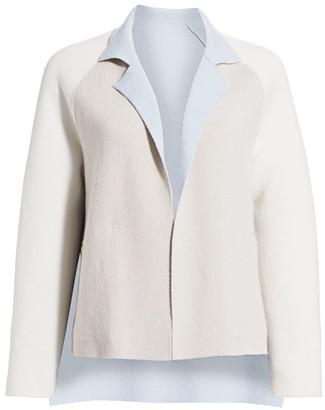 Akris Reversible Double Face Cashmere Knit Jacket