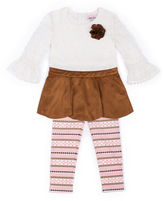 Little Lass 2-pc. Faux-Suede Top and Pants Set - Preschool Girls 4-6x