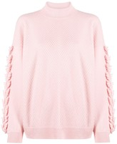 Thumbnail for your product : Barrie Chevron Knit Cashmere Jumper