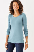 J. Jill Perfect Pima Long-Sleeve Delicate Scoop-Neck Tee