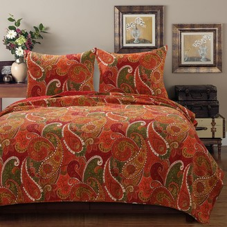 Greenland Home Fashions Home Tivoli Cinnamon Quilt Set