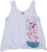 Erge Flamingo Screen Tank (Toddler/Kid) - White-2T