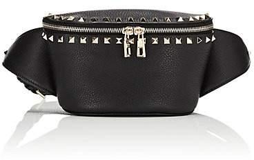 Valentino Women's Rockstud Leather Belt Bag - Black