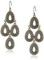 Lucky Brand Gold Tear Earrings