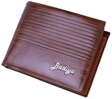 DreamBox Men's Flipout ID Wallet Bifold/Trifold Hybrid Coffee RFID Blocking