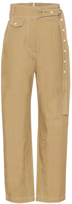 Low Classic High-rise straight cotton pants