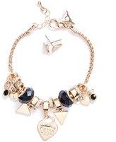 GUESS Gold-Tone Charm Bracelet Set