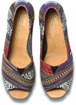 Toms Purple lina women's wedges