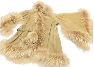 Christian Dior Beige Leather Coat for Women Vintage