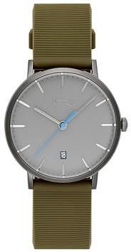 Uri Minkoff Norrebro Grey Tone Rubberized Strap Watch, 40MM
