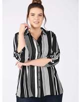 Freya Lovedrobe GB black white striped shirt